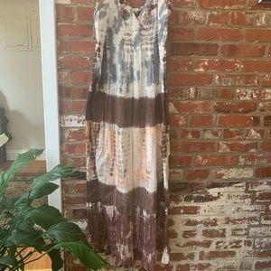 Summer Sundress with Tie Dye Pattern